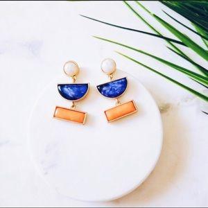 Multicolor Geometric earrings blue orange